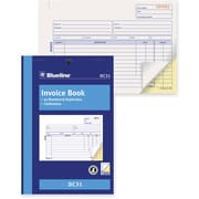 "Blueline® Invoice Book, Carbonless, Staple Bound, 5-3/8"" x 8"", English"