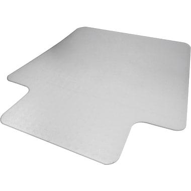 Advantus Recycled 53''x45'' Polycarbonate Chair Mat for Hard Floor, Rectangular w/Lip (50221)