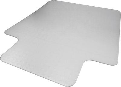 Advantus Recycled 53''x45'' Polycarbonate Chair Mat for Hard Floor, Rectangular w/Lip (50221)