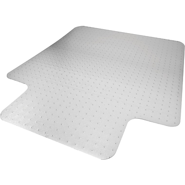 Advantus Recycled 48''x36'' Polycarbonate Chair Mat for Carpet, Rectangular w/Lip (50111)