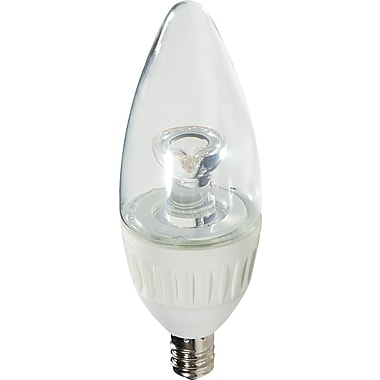 Verbatim Contour Series 4.9 Watt Candle LED Light Bulb, Soft White, Dimmable