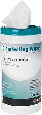 Brighton Professional™ Disinfecting Wipes, Fresh Air Scent, 75 Wipes/Pk