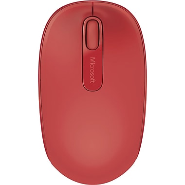 Microsoft Wireless Mobile Mouse 1850, USB Wireless Mouse, Red (U7Z-000031)