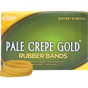 "Alliance, Pale Crepe Gold® Rubber Bands, #32 (3"" x 1/8""), 1 lb. Box"