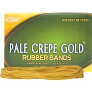 "Alliance, Pale Crepe Gold® Rubber Bands, #117B (7"" x 1/8""), 1 lb. Box"