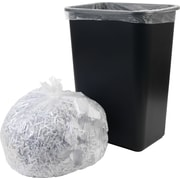Brighton Professional, Trash Bags, 12-16 Gallon, 24x33, High Density, 8 Mic, Natural, 1000 CT, 20 rolls of 50 bags per roll