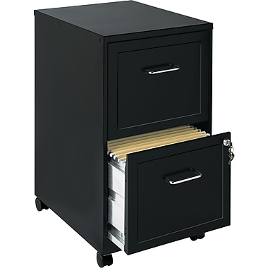 Office Designs 2 Drawer Vertical File, Black,Letter, 14.25''W (16251)