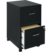 Office Designs 2 Drawer Vertical File Cabinet, Black, Letter, 18''D (16251)