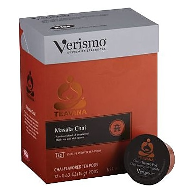 Starbucks Verismo Teavan Masala Chai Tea Pods, 12/Pack