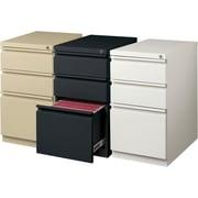 Staples 3 Drawer Mobile Pedestal File Cabinet, Black (20 Inch)