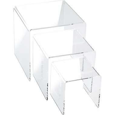 Small Square Acrylic Risers, 3