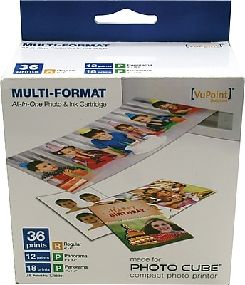 Vupoint Photo Cube Acs Ip P20 Vp Color Ink And Paper Cartridge Staples