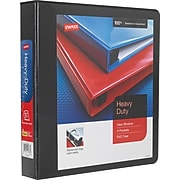 """Staples® Heavy-Duty View Binder with D-Rings, Black, 1.5"""" Ring, 12/CT"""