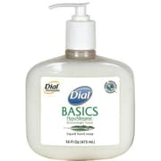 Dial® Basics Hypoallergenic Liquid Hand Soap, Honeysuckle, 16 oz., 12/CS