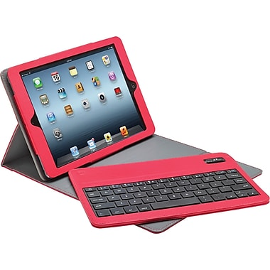 Aduro Facio Case with Bluetooth Removable Keyboard for iPad Air, Red/Grey