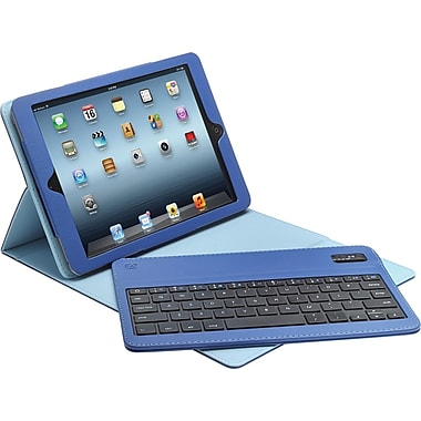 Aduro Facio Case with Bluetooth Removable Keyboard for iPad Air, Blue/Turquoise