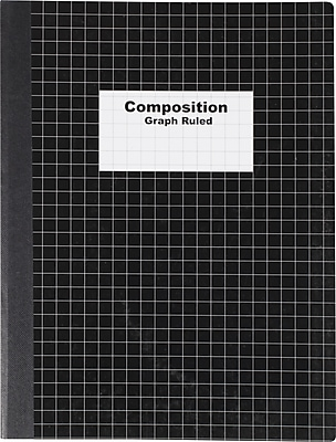 Staples Graph Composition Book, 9.75