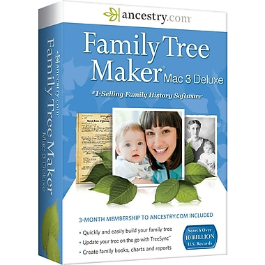 Family Tree Maker Deluxe for Mac 3 [Boxed]
