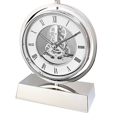 Natico 10-5288 Electro-Mechanical Gear Clock, White