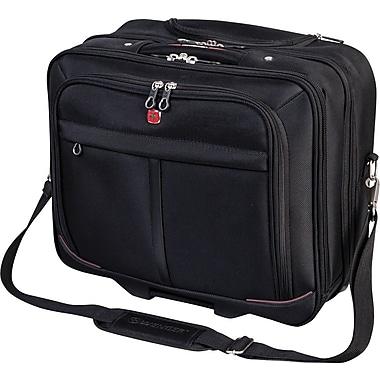 Swiss Gear® – Mallette professionnelle sur roulettes pour ordinateur portable de 15,6 po, noir
