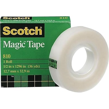 Scotch™ Magic Tape, Boxed, 12 mm x 32.9 m, 2/Pack