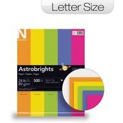 """ASTROBRIGHTS Color Paper, 8 1/2"""" x 11"""", 24 lb., 5-Color """"Happy"""" Assortment, 500 sheets"""