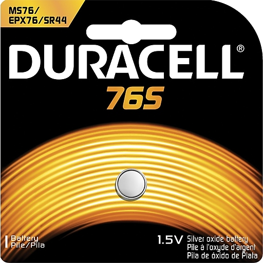 Duracell® 1.5V Silver Oxide Battery, (MS76BPK)