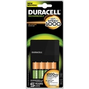 Duracell® Rechargeable ion Speed™ 1000 Charger, Includes 4 AA NiMH Batteries