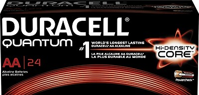 Duracell Quantum AA Battery, 24/Box (QU1500BKD)