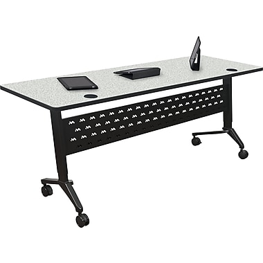 Balt Nido 60'' Rectangular Height Adjustable Table, Gray (90282-4622-BK)