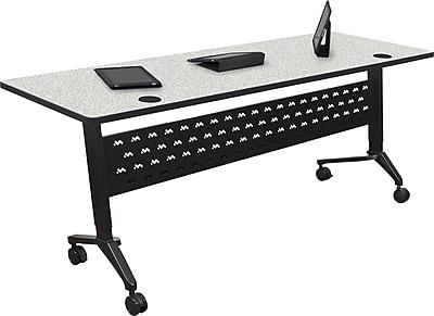 Balt Nido 60'' Rectangular Height Adjustable Table, Gray (90282-4622-BK)
