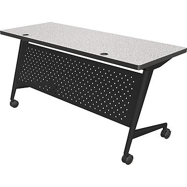 Balt Trend 60'' Rectangular Flip Top Training Table, Black and Gray (90276-4622-BK)