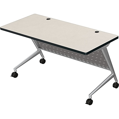 Balt Trend 60'' Rectangular Flip Top Training Table, Silver and Gray (90279-4877-PL)
