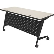 "Balt Trend 60x24"" Flipper Table, Black Frame, Gray Mesh"