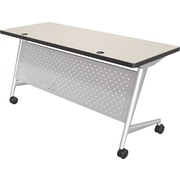 "Balt Trend 72x24"" Flipper Table, Silver Frame, Gray Mesh"