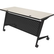 Balt Trend 72'' Rectangular Flip Top Training Table, Black and Gray (90277-4877-BK)