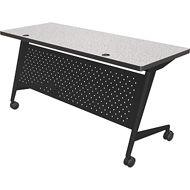 Balt Trend 72'' Rectangular Flip Top Training Table, Black and Gray (90277-4622-BK)