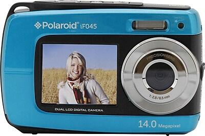 Polaroid if045 14.1 MP Dual Screen Waterproof Digital Camera, Blue