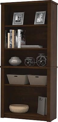 Bestar Prestige+ 5-Shelf Bookcase, Chocolate