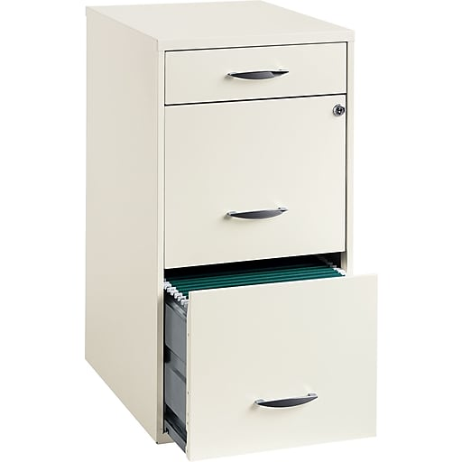 Office Designs 3 Drawer Vertical File Cabinet White Letter 18 D 19157