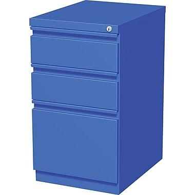 Staples 3-Drawer Mobile Pedestal File Cabinet, Blue (20-Inch)