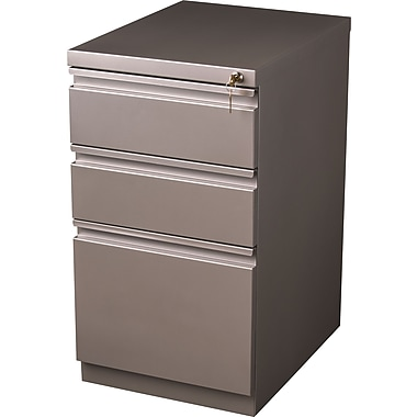 Staples Branded 3 Drawer Mobile/Pedestal File, Bronze,Letter, 15''W