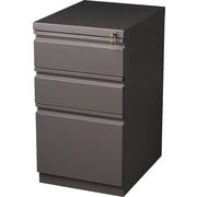 Staples 3-Drawer Mobile Pedestal File Cabinet, Medium Tone (20-Inch)