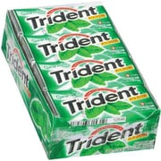 Trident® Chewing Gum, Spearmint, 18 Piece/Pack, 12 Pk/Bx (AMC61534)