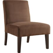 Office Star Ave Six® Fabric Laguna Chair, Chocolate Velvet