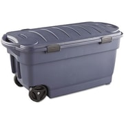 Rubbermaid® Roughneck™ 45 Gallon Wheeled Storage Box, Dark Indigo Metallic