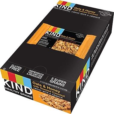 KIND® Healthy Grains Oats & Honey with Toasted Coconut Granola Bar, 1.2 oz., 12Bars/Box