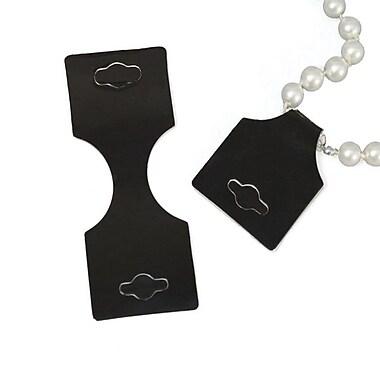 Necklace/Bracelet Card, Black, 1-3/8