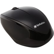 Verbatim® Wireless Multi-Trac Blue LED Optical Mouse, Black