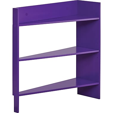 Foremost Heidi Jr. 3-Shelf Behind The Door Wood Shelving Unit, Plum